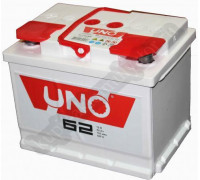 Автомобильный аккумулятор  Uno 62 Ач 242x175x190