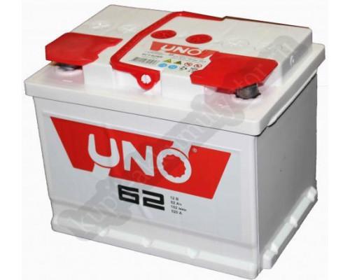 Автомобильный аккумулятор  Uno 62 Ач