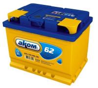 Автомобильный аккумулятор  Аком 62 Ач 242x175x190