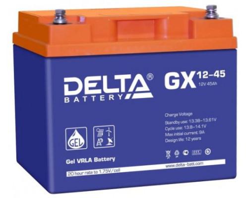 Автомобильный аккумулятор  Delta 45 Ач