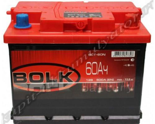 Автомобильный аккумулятор  Bolk 60 Ач