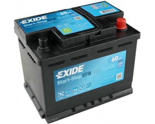Автомобильный аккумулятор  Exide 60 Ач