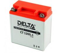 Мото аккумулятор Delta 5 Ач 120x61x129