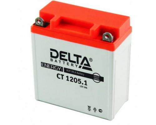 Мото аккумулятор Delta 5 Ач