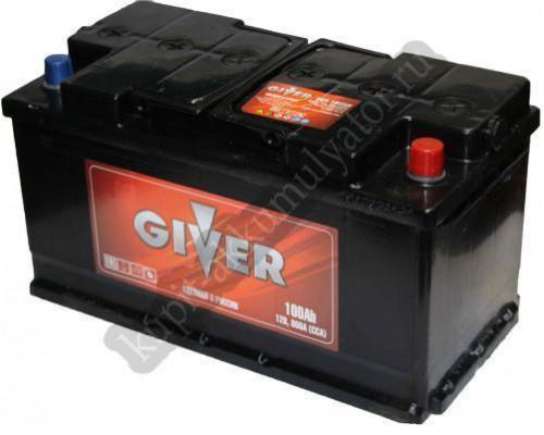 Автомобильный аккумулятор  Giver 110 Ач