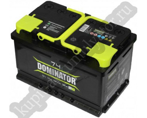 Автомобильный аккумулятор  Dominator 74 Ач
