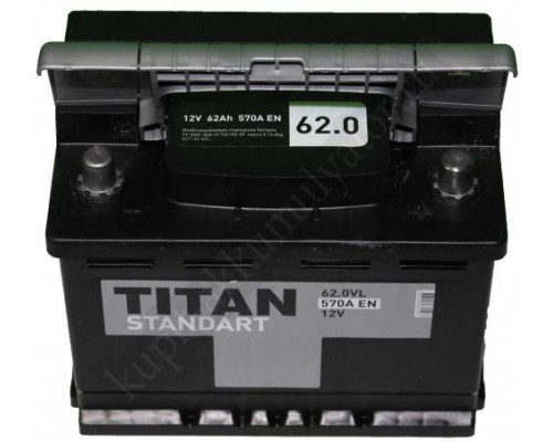 Автомобильный аккумулятор  Titan 62 Ач
