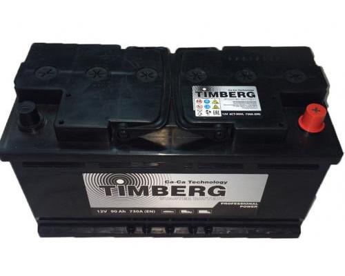 Автомобильный аккумулятор  Timberg 90 Ач