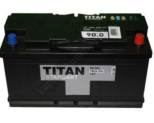 Автомобильный аккумулятор  Titan 90 Ач