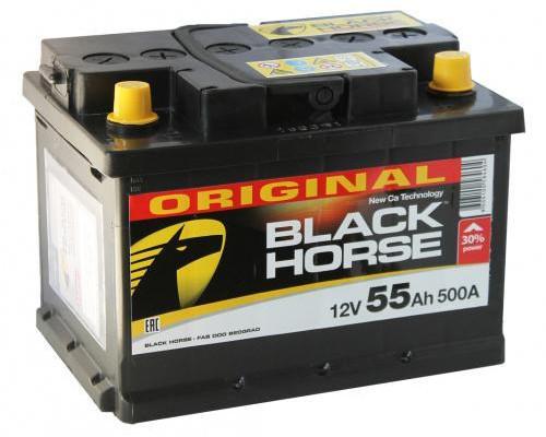 Автомобильный аккумулятор  Black Horse 55 Ач