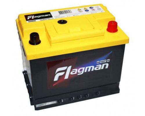 Автомобильный аккумулятор  Flagman 62 Ач