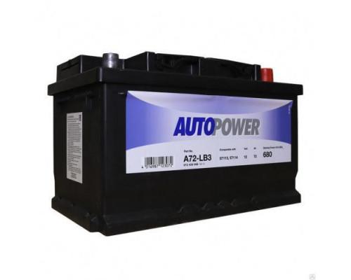 Автомобильный аккумулятор  Autopower 72 Ач