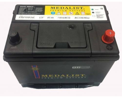 Автомобильный аккумулятор  Medalist 85 Ач