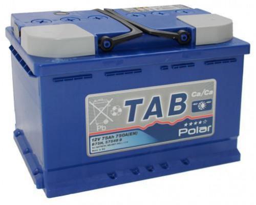 Автомобильный аккумулятор  Tab 75 Ач