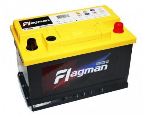 Автомобильный аккумулятор  Flagman 74 Ач