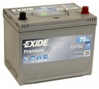 Автомобильный аккумулятор  Exide 75 Ач 260x173x225