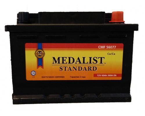 Автомобильный аккумулятор  Medalist 60 Ач