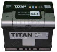 Автомобильный аккумулятор  Titan 62 Ач 242x175x190