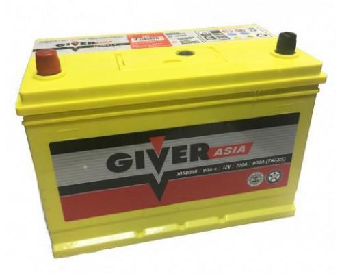 Автомобильный аккумулятор  Giver 90 Ач