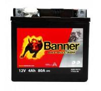 Мото аккумулятор Banner 4 Ач 120x70x92