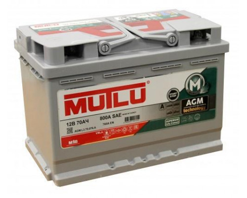 Автомобильный аккумулятор  Mutlu 70 Ач