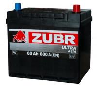 Автомобильный аккумулятор  Зубр 60 Ач 232x173x225
