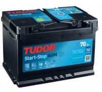 Автомобильный аккумулятор Tudor AGM 70 А.ч TK700 Обратная полярность