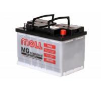 Автомобильный аккумулятор  Moll 75 Ач 276x175x190