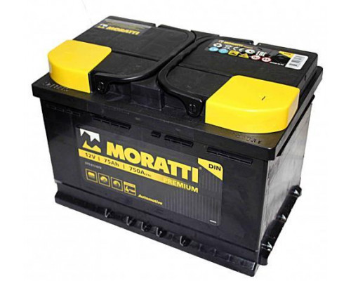 Автомобильный аккумулятор  Moratti 75 Ач