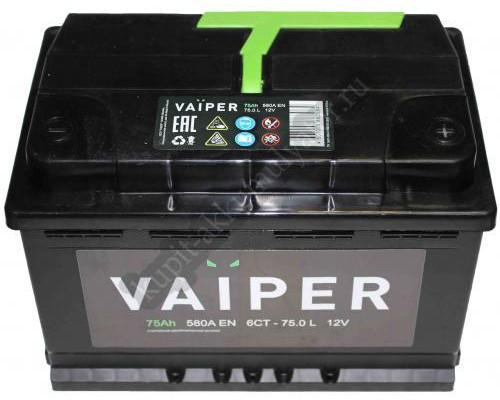 Автомобильный аккумулятор  Vaiper 75 Ач