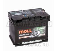 Автомобильный аккумулятор  Moll 60 Ач 242x175x190