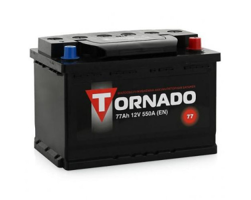 Автомобильный аккумулятор  Tornado 77 Ач