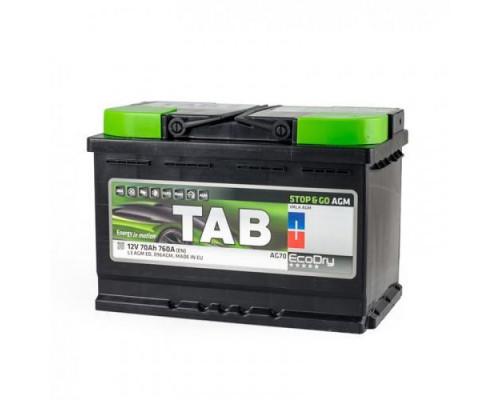 Аккумулятор TAB EcoDry AGM 70 А.ч Обратная полярность (L3 AGM ED)