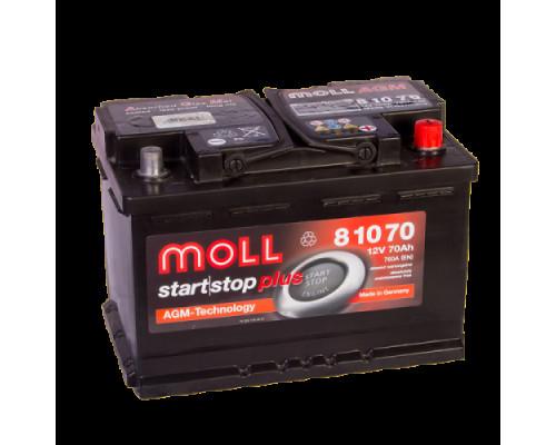 Автомобильный аккумулятор  Moll 70 Ач