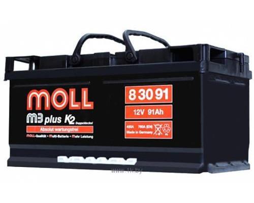 Автомобильный аккумулятор  Moll 91 Ач