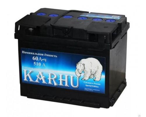 Автомобильный аккумулятор  Karhu 60 Ач