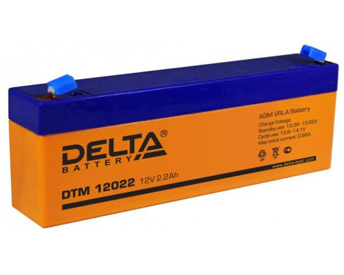 Аккумулятор Delta DTM 12022 (12 вольт 2.2 ач)