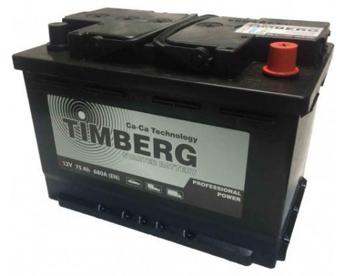 Автомобильный аккумулятор  Timberg 75 Ач