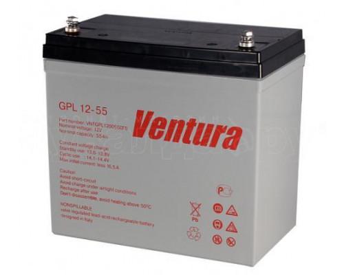 Аккумулятор для ИБП/UPS Ventura GPL 1255 (12 вольт 55 а.ч)