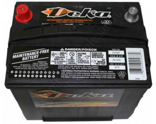 Автомобильный аккумулятор  Deka 65 Ач