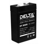 Аккумулятор для ИБП/UPS Delta DT 6028 (6 вольт 2.8 ач)