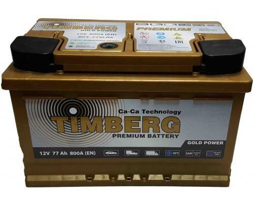 Автомобильный аккумулятор  Timberg 77 Ач