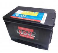 Автомобильный аккумулятор  Cene 78 Ач 260x178x186