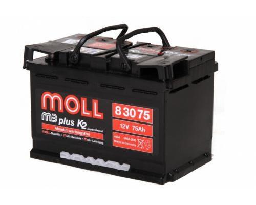 Автомобильный аккумулятор  Moll 75 Ач