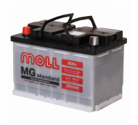 Автомобильный аккумулятор  Moll 80 Ач 276x175x190