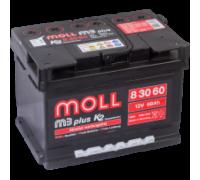Автомобильный аккумулятор  Moll 60 Ач 242x175x175