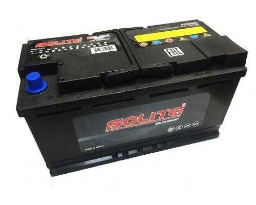 Автомобильный аккумулятор Solite AGM 95 А.ч Обратная полярность