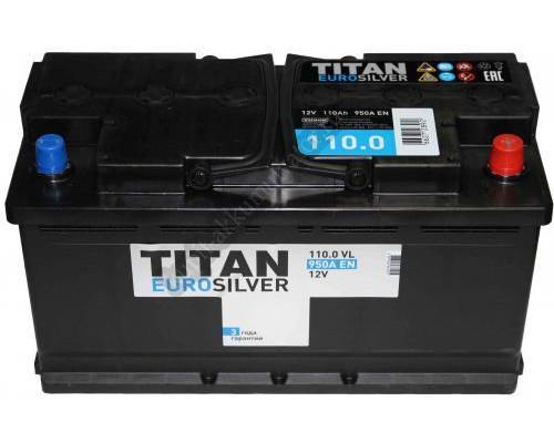 Автомобильный аккумулятор  Titan 110 Ач