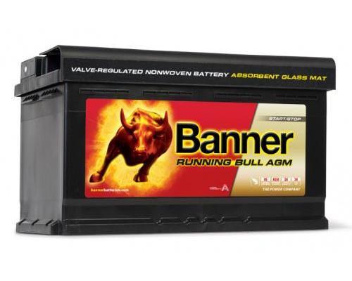 Аккумулятор BANNER Running Bull AGM 80 А.ч Обратная полярность 58001