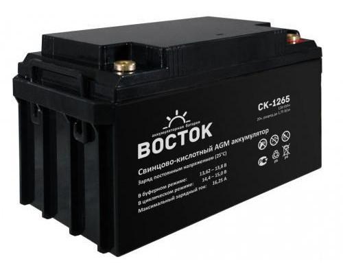 Аккумулятор ВОСТОК СК 1265 (12 вольт 65 а.ч)